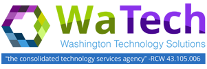 Washington Technology Solutions (WaTech) logo -- Click to return to home