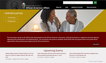 Screen shot of the Commission on African American Affairs website